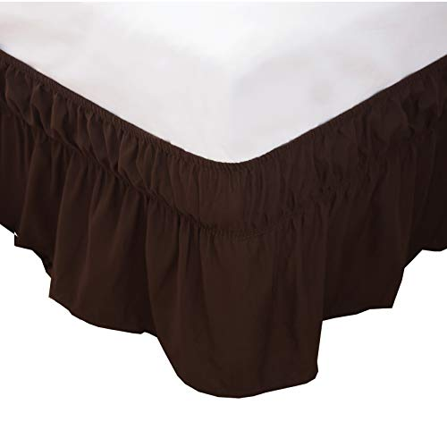 chocolate bed skirts queen size - 9