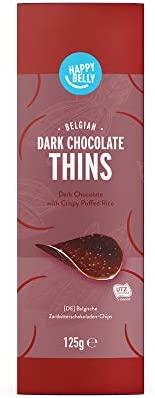 Marca Amazon - Happy Belly - Láminas de chocolate negro belga, 4x125g: Amazon.es: Alimentación y bebidas
