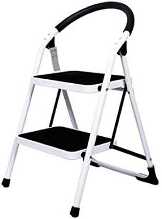 Yyqttz Escalera de 2 pasos antideslizante, escalera de engrosamiento de escalera Escalera de dos pasos Escalera pequeña de múltiples funciones Escalera plegable Estante for el hogar Capacidad de carga: Amazon.es: Hogar