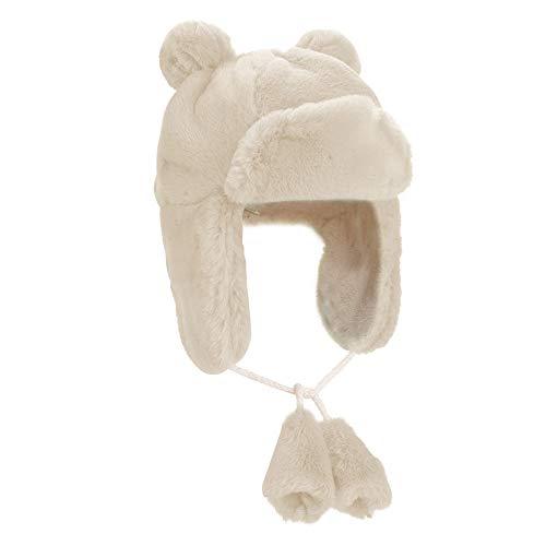Boys Girls Winter Super Soft Warm Faux Rabbit Fur Ushanka Trapper Cap Aviator Cap Bomber Hat (White) for $<!--$16.98-->