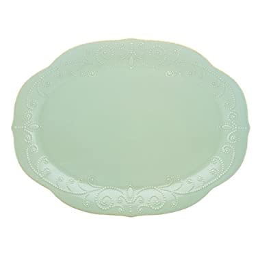 Lenox French Perle Oval Platter, Ice Blue