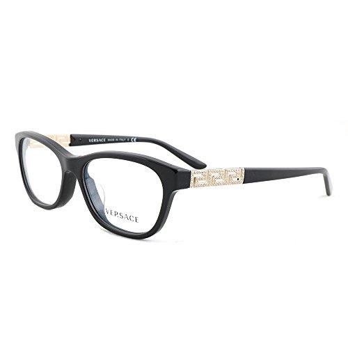 Versace VE3212BA Eyeglass Frames GB1-54 - Black