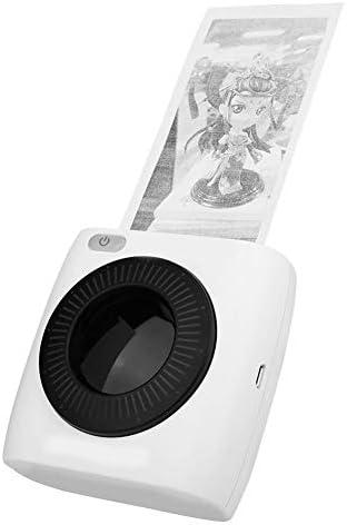 Topiky Drahtloser Thermodrucker, tragbarer Pocket BT 300 DPI-Belegfotodrucker mit Akku für Android für iOS-Systeme