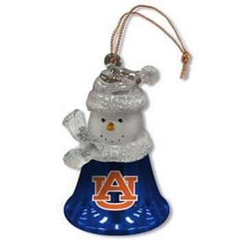2.5 Inch Snowman Bell Ornament - SC Sports Auburn Tigers Snowman Bell Ornament 2.5 Inches