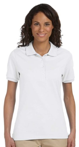 Bianca confezione Donna Jerzees Alle 2xl Resistente Camicia Manica 12 Polo Mezza Macchie Da 4vq8H