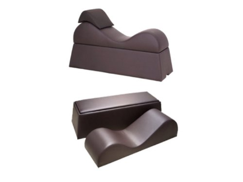 Intimate Furniture Series S Tantra Sex Lounge Bench, Chocolate