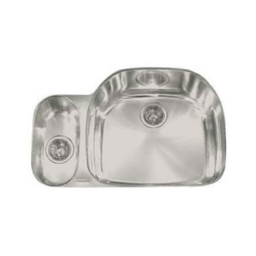 (Franke PCX160 Prestige Classic 32-Inch Offset to the Right Double Bowl Undermount Kitchen Sink by Franke)