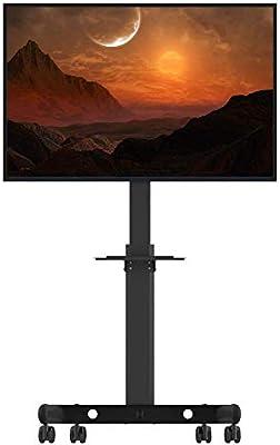 IG Carro de TV Universal de Uso Dual para el hogar para 32-60 Pulgadas Altura de Ruedas con Llave Ajustable Ajustable para Pantalla Plana Pantalla LCD de Plasma Pantalla de Entretenimiento para