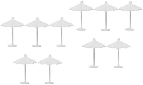dailymall 10ピースプラスチック傘砂テーブルモデル工芸玩具1:150 Nスケールジオラマ