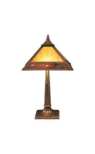 Meyda Tiffany 26828 Lotus Leaf Table Lamp, 22