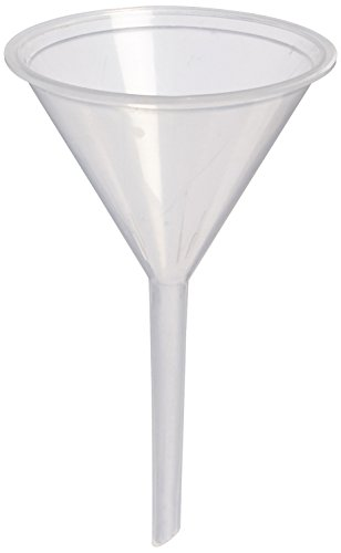 United Scientific FSPP65 Polypropylene Clear Standard Stem Funnels, 45ml Capacity (Pack of 12)