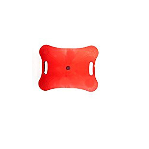 Red, Heavy-Duty, Plastic Scooter Board with Safety Handles for Physical Education Class or Home Use ()