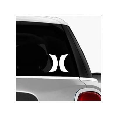 Hurley H Lines SK8/Surf/Snow/Water/Bike/Brands Automotive Decal/Bumper Sticker: Automotive