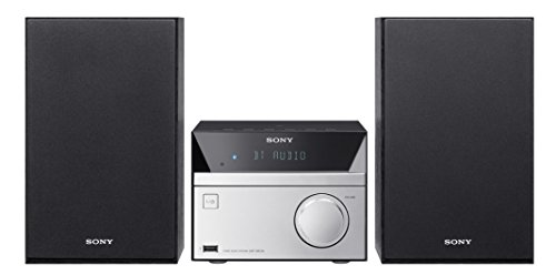 Sony Micro Hi-Fi Stereo Sound System with Bluetooth Wireless Streaming NFC, CD Player, AM/FM Radio, Mega Boost, USB Playback & Charge, AUX Input, Remote Control (Player Cd Sony)