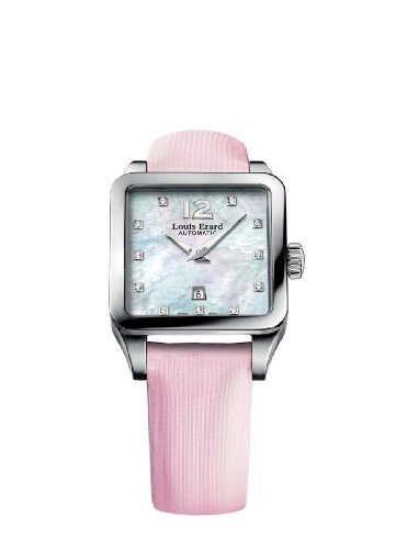Louis Erard Women's 20700AA14.BDS60 Emotion Diamond-Accented Stainless Steel Automatic Watch with Satin Band