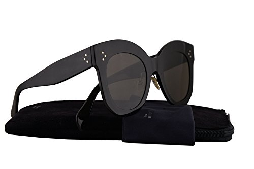 Celine CL41443/S Sunglasses Black w/Brown Lens 50mm 06Z2M CL41443S CL - Aviators Square Celine