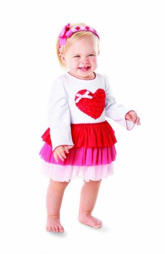 Mud Pie Tiered Heart Valentine's Day Dress for Little Girls