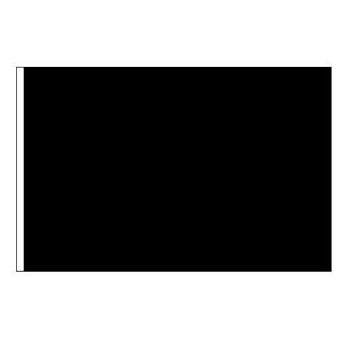 US Flag Store Solid Black Flag 3x5ft Nylon