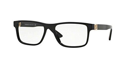 MEN VERSACE EYEGLASSES VE3211 GB1 Black Frame 55-145