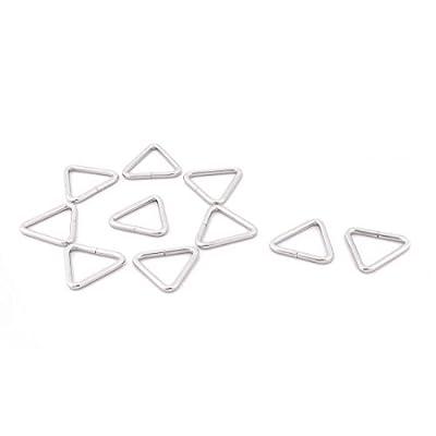 Dealmux Métal Sac à dos en forme de triangle Sangle Keeper Boucle Bague Boucle 10pcs argenté