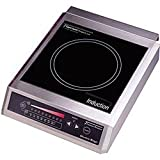 Tarrison CI-25-1 Heavy Duty Stainless Steel Free Standing Counter Top 13'' Induction Range, 208V, 2200W, 10.6 Amps