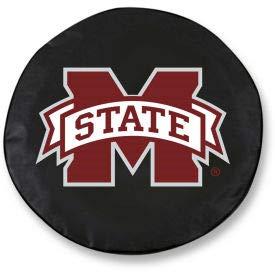 Mississippi State University Black Tire Cover-TCSMMSSSTUBK (TCSMMSSSTUBK) ()