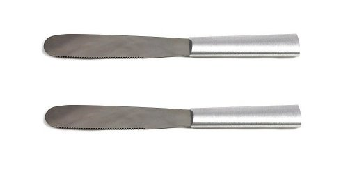 Rada Cutlery Super Spreader Knife, Aluminum Handle, Pack of 2