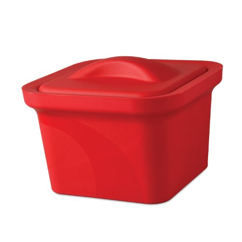Red Mini Model - Bel-Art Magic Touch 2 High Performance Red Ice Pan; 1.0 Liter Mini Model, with Lid (M16807-1103)