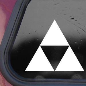 1 X Zelda Triforce White Decal Sticker Wall Laptop Notebook Die-cut White Decal Sticker
