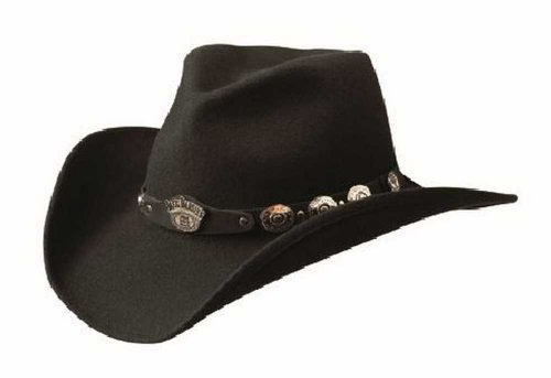 Jack Daniel's Hats 100% Wool Satin Lined Western Cowboy Hat (Large)