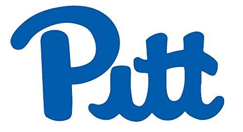 Pitts University of Pittsburgh (Azure Blue) (Set of 2) Premium Waterproof Vinyl Decal Stickers for Laptop Phone Accessory Helmet Car Window Bumper Mug Tuber Cup Door Wall Decoration (Helmet Decal Wall)