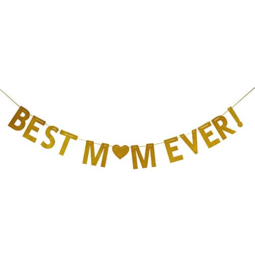 Best Mom Ever Bunting Banner, Happy Mother's Day