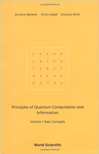 Principles of quantum computation and information. Vol. 1: Basic concepts