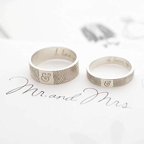 Amazoncom Fathers Day Gift Custom Fingerprint Jewelry