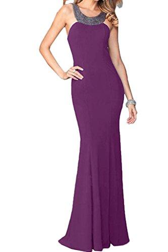 custodia Prom alta sera abito pietre Festa vestito linea Party Rueckenfrei ivyd abito uva ressing Donna qualità xRRwCg