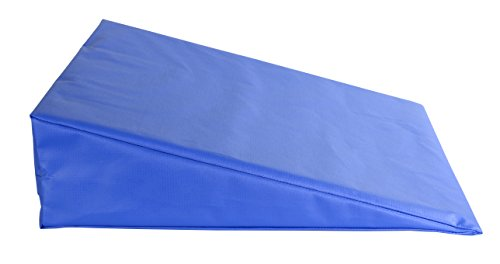 "CanDo 31-2001S Positioning Wedge, Foam with Vinyl Cover, Soft, 20"" x 22"" x 6"", Royal Blue"
