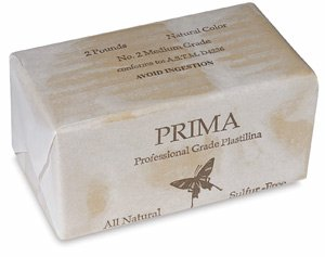 - Sculpture House Prima Plastilina Modeling Clay, Sulphur Free, Light Tan, 2 lb - 2 lb