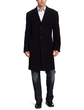Calvin Klein Men's Plaza Coat, Black, 48 Long