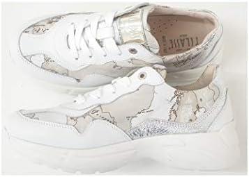 ALVIERO MARTINI 1°Classe N02730030Y294 Sneakers Scarpa Bianco/Geo Safari lamè/Argento Donna (35 EU)