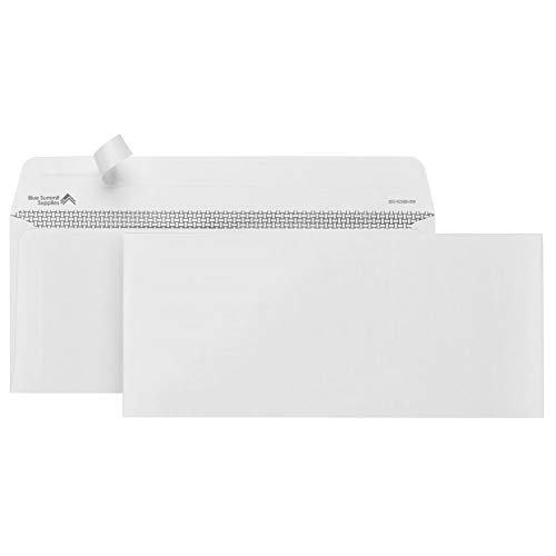 500#10 Self Seal Security Envelopes-Designed for Secure Mailing-Security Tinted with Printer Friendly Design- 4 1/8 x 9 ½''-Pack of -