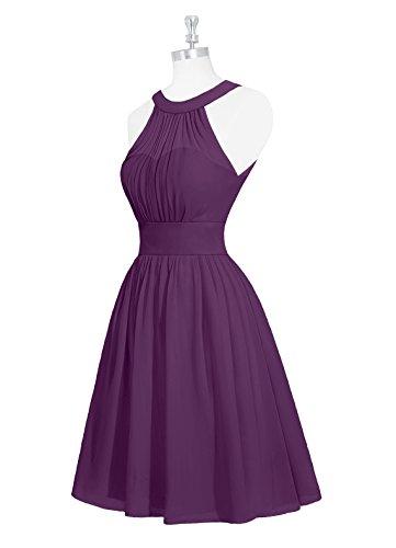 Gowns Prom Bridesmaid Blue Dresses Formal Homecoming ASBridal Chiffon Halter Short Dress z7qww8
