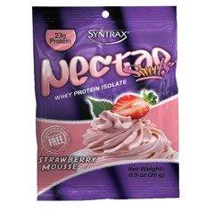Syntrax Nectar Grab N 'Go, Mousse à la fraise, pochettes de 1 once (Pack de 12)