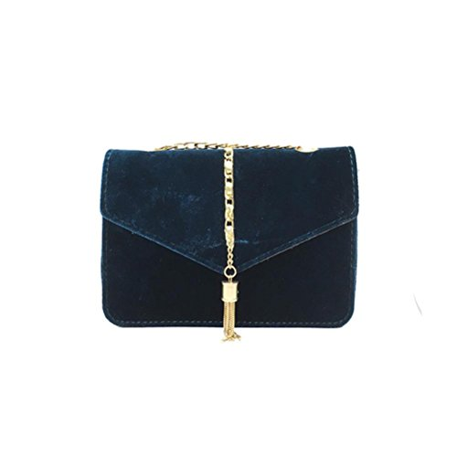 Blue NXDA Blue Shoulder Hasp Tassel Velour Bag Girl Leather Women Messenger Handbag Women For PU Crossbody Bag For Bag Casual rFUqrH
