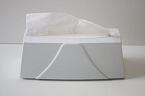 Dispensador de toalla de papel blanco Mesa para ap. 120 Toallas ZZ Para poner,