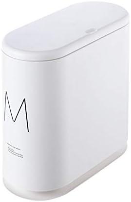 ダストボックス 省スペースベッドルームバスルームキッチン用超薄型ごみ箱 プ設計は耐久性があり (色 : 白, Size : 33.7×16×31.5cm)