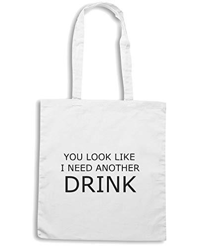 Bianca Shopper Borsa TDM00308 ANOTHER YOU DRINK Speed I LOOK LIKE NEED Shirt tqZfR1yw