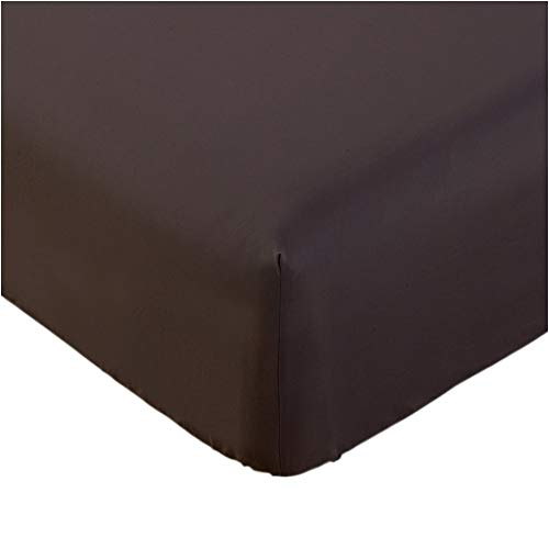 Mellanni Fitted Sheet Twin Brown Brushed Microfiber 1800 Bedding - Wrinkle, Fade, Stain Resistant - Hypoallergenic - (Twin, - Fitted Sheet Chocolate