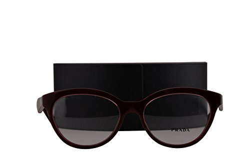 Prada PR11RV Eyeglasses 52-17-140 Opal Bordeaux On Bordeaux UAN1O1 VPR11R (FRAME+CASE - On Sunglasses Sale Prada