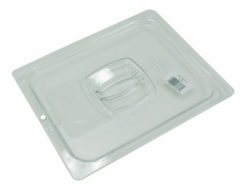 Pan Cold Cover - Rubbermaid Commercial Cold Food Pan Cover with Peg Hole, 1/2 Size, Clear, FG128P23CLR