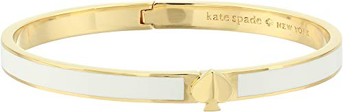 Heritage Jewelry - Kate Spade New York Women's Heritage Spade Thin Enamel Bangle Bracelet, White, One Size